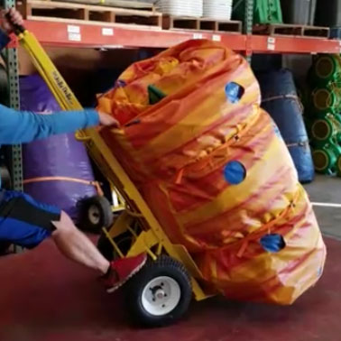 inflatable water slide dolly